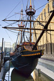 LONDON, UK - MARCH 29, 2014  Francis Drake s Golden Hind ship — Stock Photo