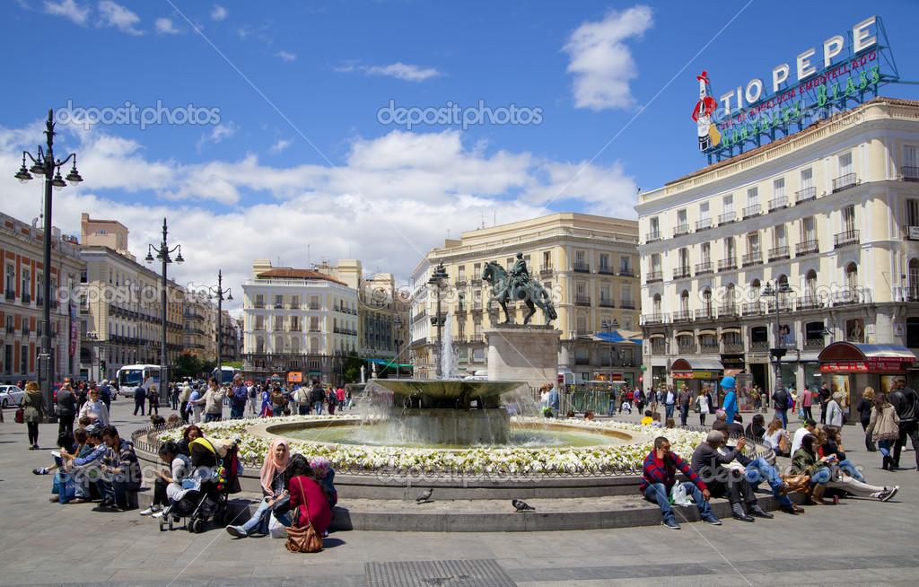 Madrid, Espagne - 28 mai 2014 : centre ville de madrid, la ...