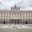 MADRID, SPAIN - MAY 28, 2014: The Royal Palace of Madrid is the official residence of the Spanish Royal Family at the city of Madrid — Stock Photo #48547485