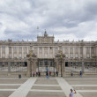 MADRID, SPAIN - MAY 28, 2014: The Royal Palace of Madrid is the official residence of the Spanish Royal Family at the city of Madrid — Stock Photo #48548321