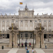 MADRID, SPAIN - MAY 28, 2014: The Royal Palace of Madrid is the official residence of the Spanish Royal Family at the city of Madrid — Stock Photo #48548395