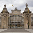 MADRID, SPAIN - MAY 28, 2014: The Royal Palace of Madrid is the official residence of the Spanish Royal Family at the city of Madrid — Stock Photo #48552055
