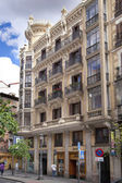 Madrid, i̇spanya - 28 nisan 2014: madrid şehir merkezine, sermaye ünlü dönüm noktası — Stok fotoğraf