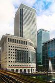 London, Velká Británie - 24 dubna 2014: moderní architektura canary wharf přední centrum globálních financí — Stock fotografie