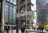 LONDON, UK - APRIL 24, 2014: Modern architecture City of London, Lloyd's bank — Foto de Stock