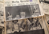Vintage newspaper background — Stok fotoğraf
