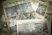 Vintage newspaper background — Zdjęcie stockowe