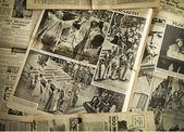 Vintage newspaper background — Foto Stock