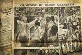 Vintage newspaper background — Stockfoto