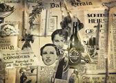 Vintage newspaper background — Stock Photo