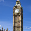 LONDON, UK - MAY 14, 2014: Big Ben and houses of Parliament on the river Thames, London UK — Stock Photo #49906629
