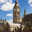 LONDON, UK - JULY 14, 2014: Big Ben and houses of Parliament on the river Thames, London UK — Stock Photo #49907075