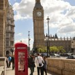 LONDON, UK - MAY 14, 2014: British red telephone box near Westminster tube station, London — Stock Photo #49908277