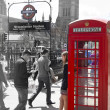 LONDON, UK - MAY 14, 2014: British red telephone box near Westminster tube station, London — Stock Photo #49908421