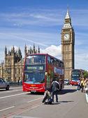 London, Wielka Brytania - 14 maja 2014: big Bena i domy Parlamentu nad Tamizą, Londyn uk — Zdjęcie stockowe