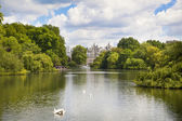 LONDON, UK - MAY 14, 2014: - St James park, nature island in the middle of busy London, (City of Westminster) and the oldest of the Royal Parks — Stock Photo