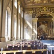 LONDON, UK - MAY 15, 2014: Painted hall in London where Nelson lay in state after his death at the Battle of Trafalgar. — Stock Photo #49912823