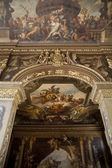 LONDON, UK - MAY 15, 2014: Painted hall in London where Nelson lay in state after his death at the Battle of Trafalgar. — Stock Photo