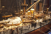 LONDON, UK - MAY 15, 2014 Royal navy museum in Greenwich Model of Japanese battleship Yashima, built in Newcastle in the Victorian time — Stock Photo