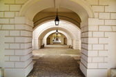 LONDON UK - MAY 15, 2014: Queen's palace tulips stairs, 1619. Was built as an adjunct to the Tudor Palace. — Stock Photo