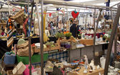 LONDON, UK - MAY 15, 2014: Antique display Greenwich market. Famous place to buy an art, crafts, antiques etc. — Stock Photo