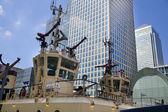 London, Storbritannien - 17 maj, 2014: tyska armén militära fartyg i canary wharf aria, att vara öppna för allmänheten i pedagogiskt innehåll. — Stockfoto