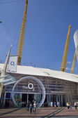 LONDON, UK - MAY 18, 2014 O2 Arena, hall with cinema entrance — Stock Photo