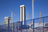 LONDON, UK - MAY 17, 2014: Building site with cranes in centre of London — Stock Photo