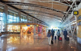 MADRID, SPAIN - MAY 28, 2014: Interior of Madrid airport, departure waiting aria — Stock Photo