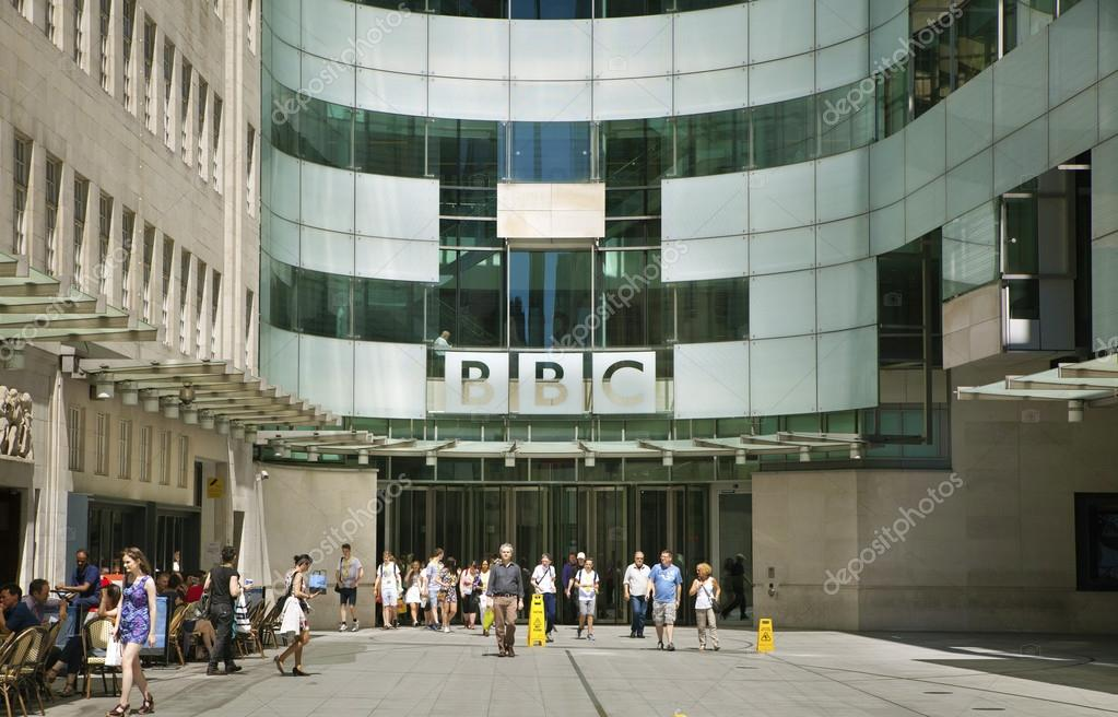 London Uk June 3 2014 Bbc Head Office And Square In