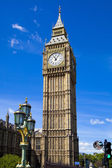 LONDON, UK - JULY 14, 2014: Big Ben, Houses of parliament and Westminster bridge on river Thames — Stock Photo