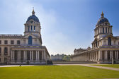 LONDON, GREENWICH UK - JULY 28, 2014: Old English park south of London,  Royal chapel and classic architecture — 图库照片