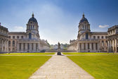 LONDON, GREENWICH UK - JULY 28, 2014: Old English park south of London,  Royal chapel and classic architecture — Stock Photo