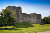 CHEPSTOW CASTLE, WALES, UK - 26 JULY 2014: Chepstow castel ruins, Foundation, 1067-1188. Situated on bank of the River Wye — Foto de Stock