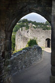 CHEPSTOW CASTLE, WALES, UK - 26 JULY 2014: Chepstow castel ruins, Foundation, 1067-1188. Situated on bank of the River Wye — Stock Photo
