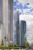 MADRID, SPAIN - July 22, 2014: Madrid city, business center, modern skyscrapers — Stock Photo
