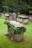 WILTSHIRE, CHIPPENHAM, UK - AUGUST 9, 2014: Castle Combe, grave yard — Stok fotoğraf