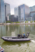 LONDON, UK - MAY 17, 2014 In side of Capitan cabin. German army military ships based in Canary Wharf aria, to be open for public in educational content — Stock Photo