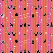 Christmas gift wrap . — Stock Vector