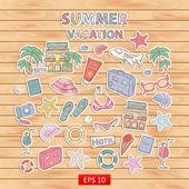 Summer vacation scrap set. — Stock Vector