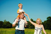 Family walk — Fotografia Stock