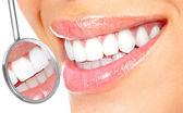 Beautiful woman smile. Dental health. — Stock Photo