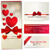 Set of valentines day card design — Vettoriale Stock