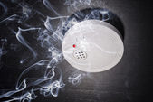 Smoke and fire detector — Stock Photo