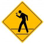 Road sign crosswalk. — Stock Vector