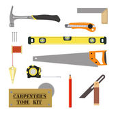 Carpenter`s Tool Kit — Stockvector