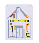 Carpenter`s Tool Kit Project — Stock Vector