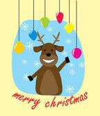 Christmas rådjur — Stockvektor
