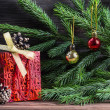 Stock Photo: Composition with Christmas decorations