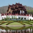 Thai style building in Royal flora Ratchaphruek, Chiang Mai, Tha — Stock Photo